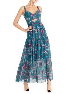 RACHEL Rachel Roy Adrena Dusk Floral-Print Maxi Chiffon Dress