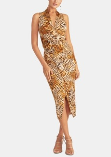 Rachel Rachel Roy Animal-Print Faux-Wrap Dress