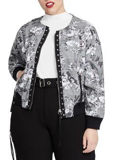 RACHEL Rachel Roy Baldwin Bomber Jacket (Plus Size)