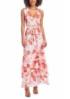 Rachel Rachel Roy Belted Tiered Maxi Dress