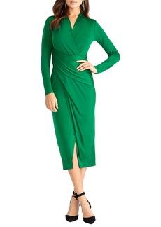 RACHEL Rachel Roy Bret Long Sleeve Faux Wrap Dress