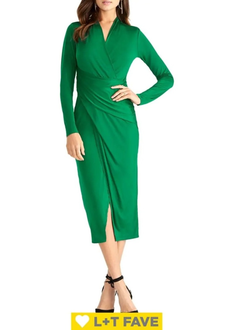 RACHEL Rachel Roy Bret Stretch Jersey Wrap Dress