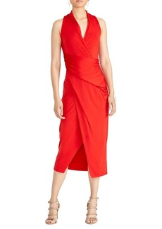RACHEL Rachel Roy Bret Wrap Halter Dress