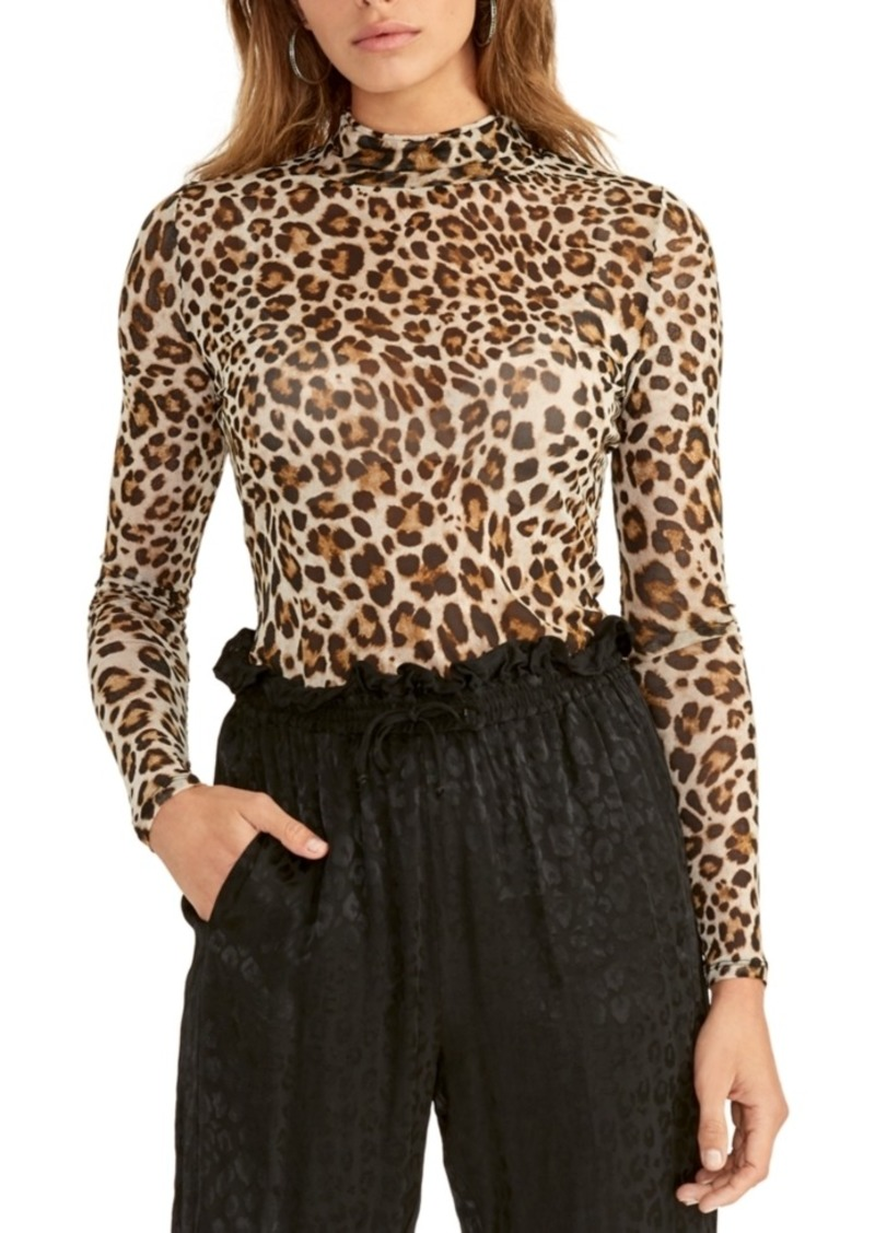 Rachel Rachel Roy Cheetah-Print Turtleneck