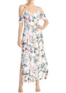 RACHEL Rachel Roy Cold Shoulder Floral Maxi Sundress