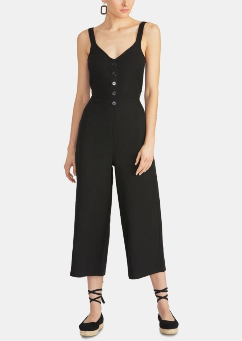 Rachel Rachel Roy Cotton Cropped Tie-Back Jumpsuit