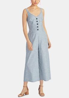Rachel Rachel Roy Cotton Cropped Tie-Back Jumpsuit