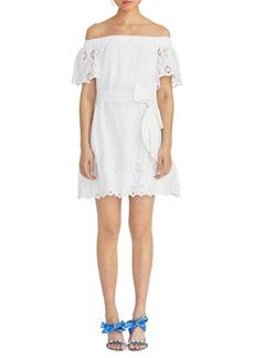 RACHEL Rachel Roy Cotton Mini A-line Dress