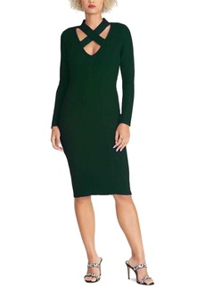 Rachel Rachel Roy Cross-Neck Sweater Dress