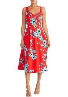 RACHEL Rachel Roy Cutout Floral Midi Sundress