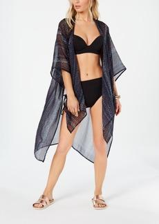 2d919a826ce2a Rachel Rachel Roy Dot-Dash Printed Side-Slit Kimono Cover-Up Women's  Swimsuit