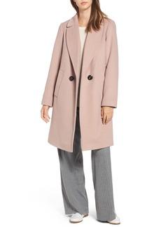 RACHEL Rachel Roy Double Breasted Wool Blend Coat