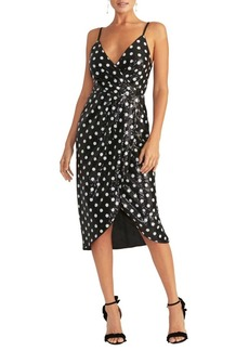 RACHEL Rachel Roy Faye Sequin Polka-Dot Midi Dress