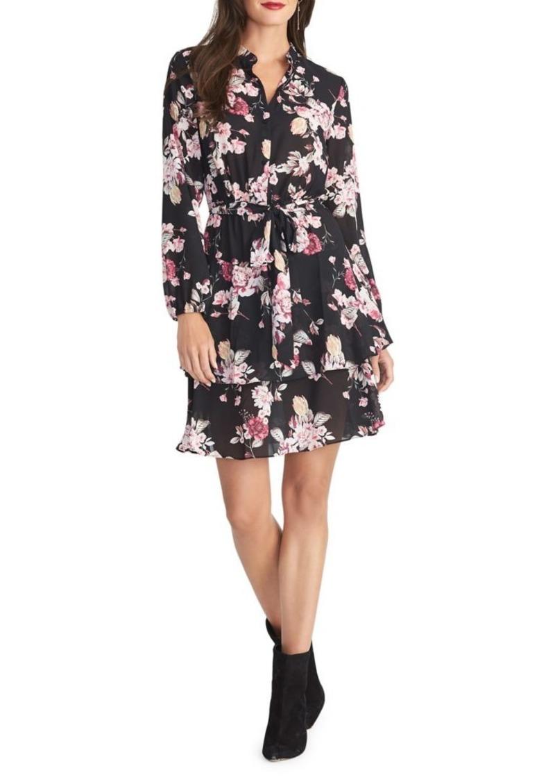 RACHEL Rachel Roy Floral Button-Front Dress