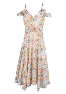 RACHEL Rachel Roy Floral Print Handkerchief Hem Dress