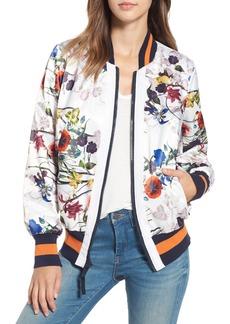 RACHEL Rachel Roy Flower Print Bomber Jacket