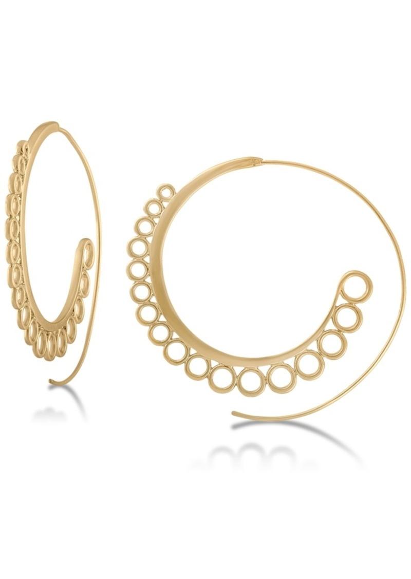 """Rachel Rachel Roy Gold-Tone 2-1/4"""" Spiral Large Hoop Earrings"""