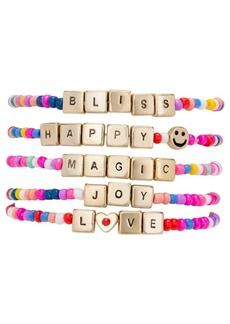 Rachel Rachel Roy Gold-Tone 5-Pc. Set Happy Magic Beaded Stretch Bracelets