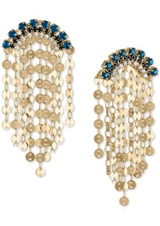 Rachel Rachel Roy Gold-Tone Blue Crystal & Disc Shaky Drop Earrings