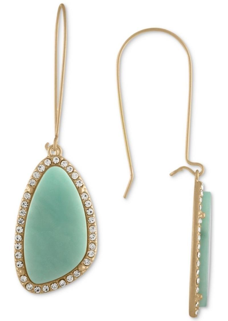 Rachel Rachel Roy Gold-Tone Blue Stone Drop Earrings