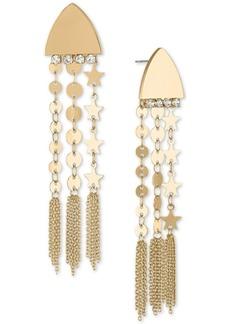 Rachel Rachel Roy Gold-Tone Disc Chain Drop Earrings