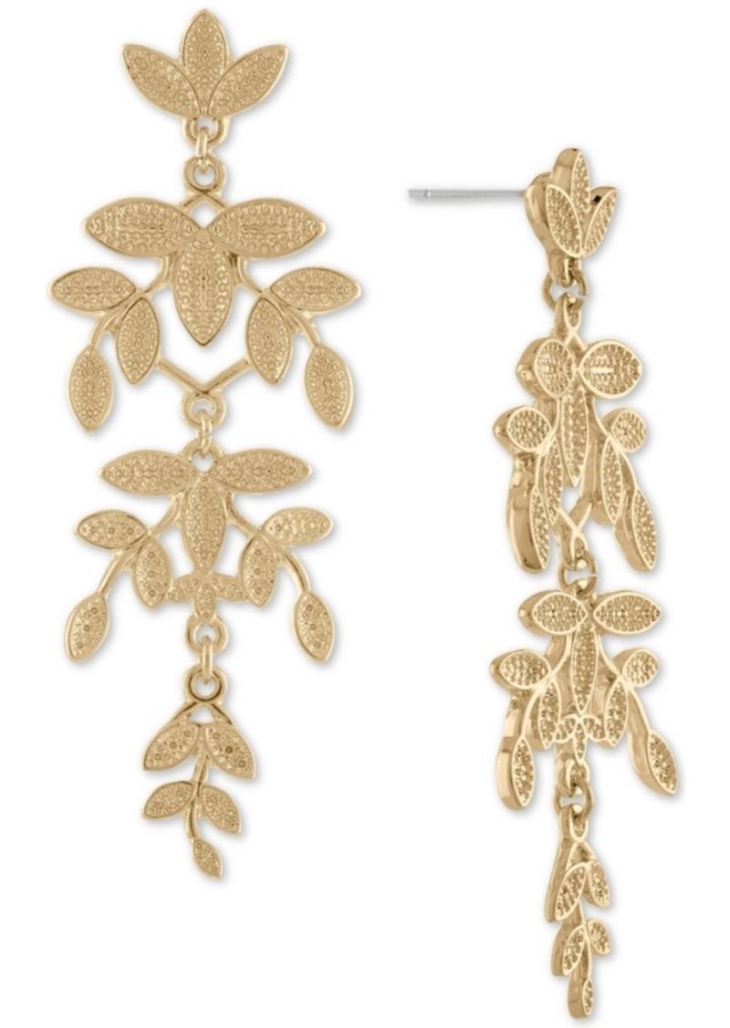 Rachel Rachel Roy Gold-Tone Leaf Chandelier Earrings