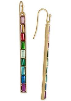 Rachel Rachel Roy Gold-Tone Multi-Stone Bar Linear Drop Earrings