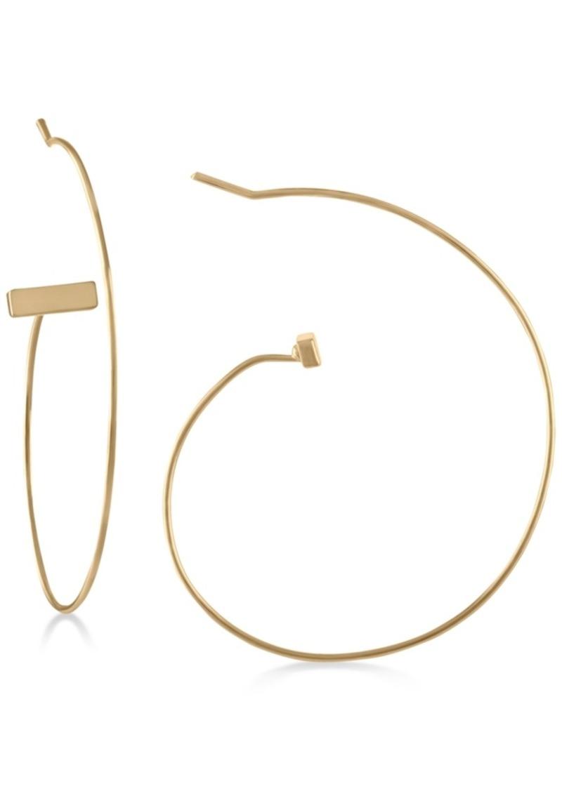 "Rachel Rachel Roy Gold-Tone Open 2"" Hoop Earrings"