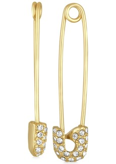 Rachel Rachel Roy Gold-Tone Pave Safety Pin Drop Earrings