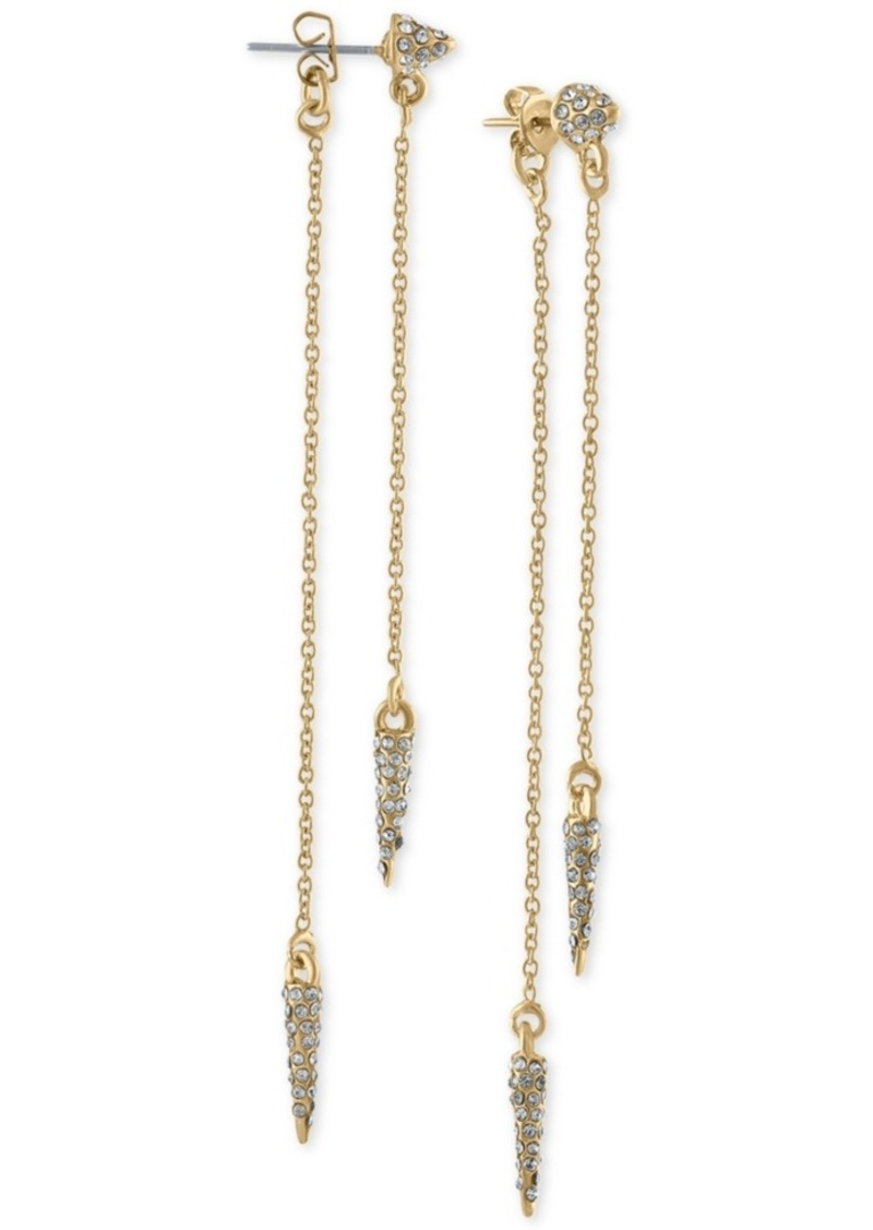 Rachel Rachel Roy Gold-Tone Pave Spike Front-and-Back Earrings