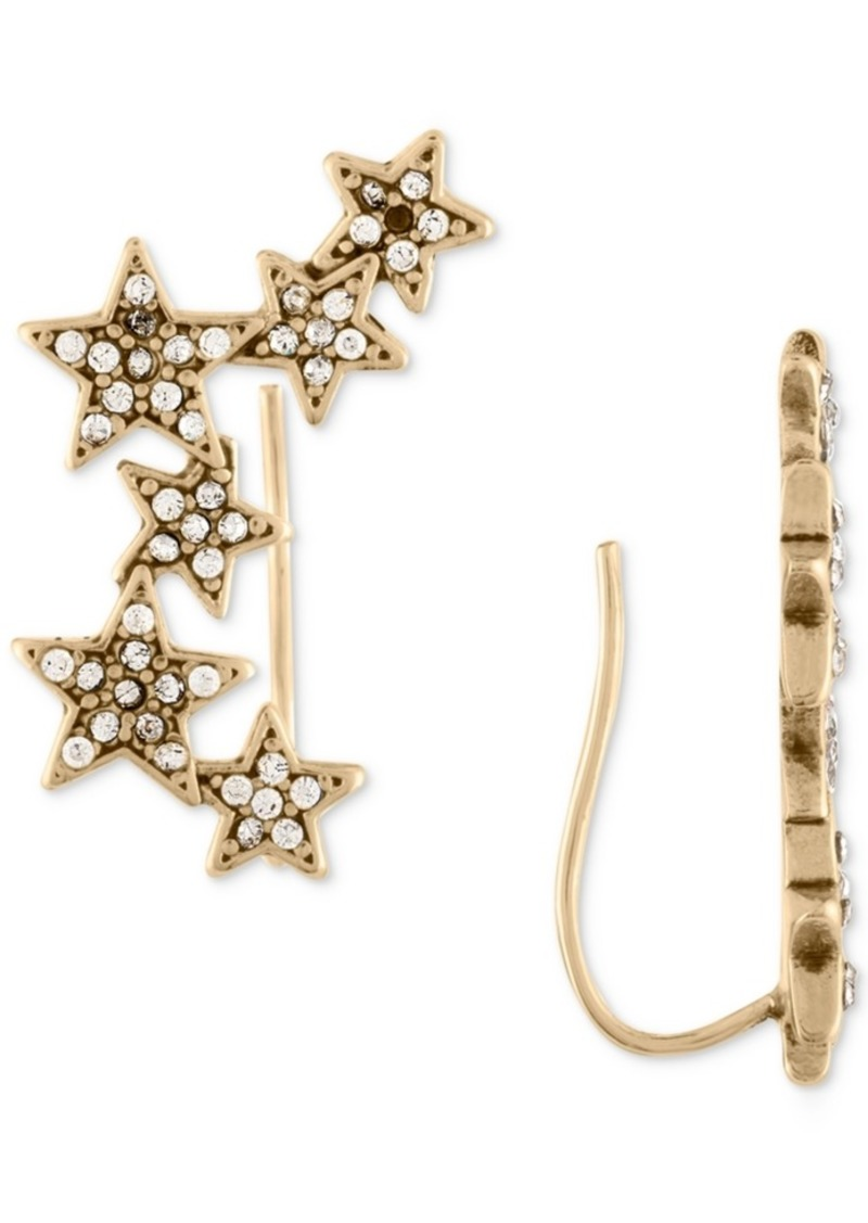 Rachel Rachel Roy Gold-Tone Pave Stars Crawler Earrings