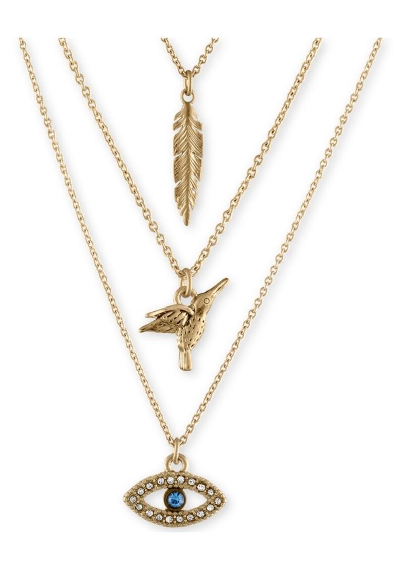 Rachel Rachel Roy Gold-Tone Trio Charm Necklace