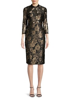 RACHEL Rachel Roy Illusion Floral Sheath Dress