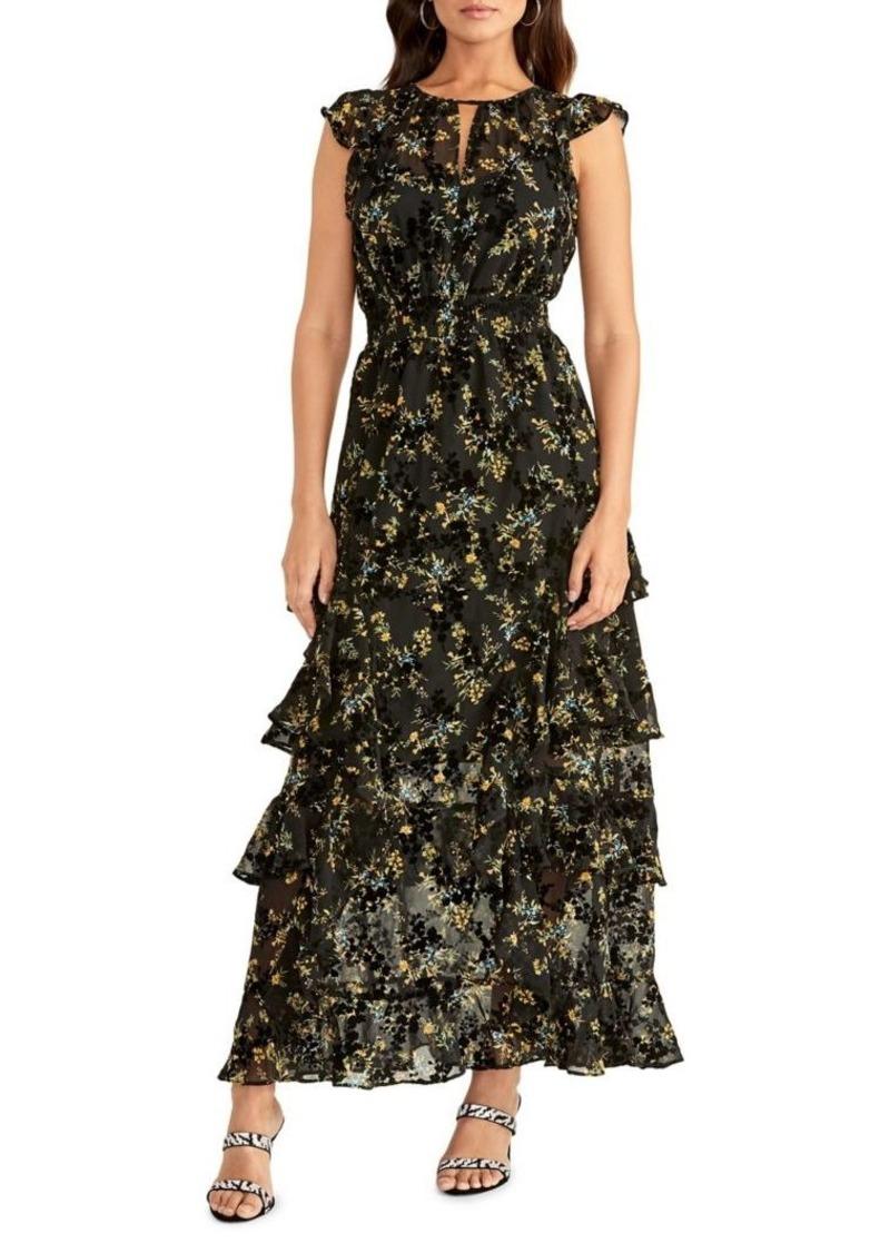RACHEL Rachel Roy Issa Floral Burnout Maxi Dress
