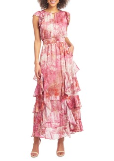 RACHEL Rachel Roy Issa Tie-Dye Tiered Maxi Dress