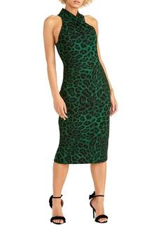 RACHEL Rachel Roy Jaguar Print Sheath Dress