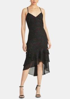 Rachel Rachel Roy Justina Metallic-Dot Ruffled Dress