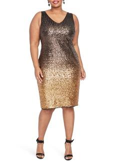 RACHEL Rachel Roy Karine Sequin Sheath Dress (Plus Size)
