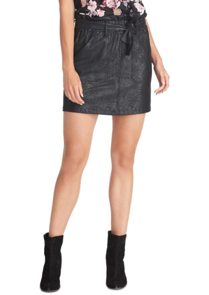 Rachel Rachel Roy Keni Snake-Embossed Pull-On Skirt