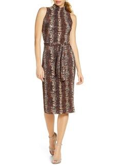 RACHEL Rachel Roy Kiki Snake Print Sleeveless Dress