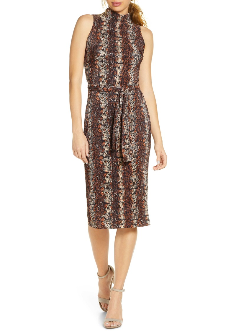 RACHEL Rachel Roy Kiki Snake Print Sleeveless Dress