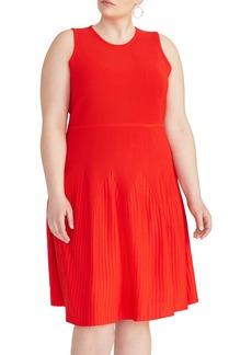 RACHEL Rachel Roy Liliana Ottoman Rib Fit & Flare Dress