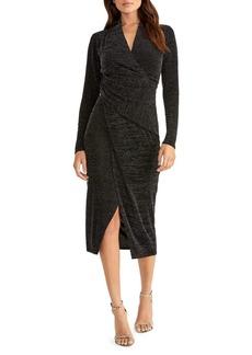 RACHEL Rachel Roy Long Sleeve Jersey Wrap Dress