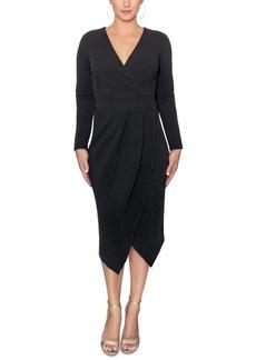 Rachel Rachel Roy Long-Sleeve Wrap Midi Dress