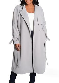 RACHEL Rachel Roy Luxe Crepe Trench Coat (Plus Size)