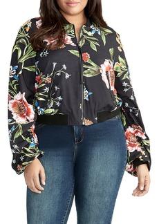 RACHEL Rachel Roy Nicole Floral Bomber Jacket (Plus Size)