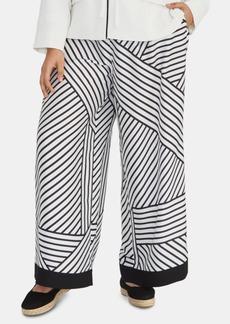 Rachel Rachel Roy Plus Size Adalia Printed Wide-Leg Pants