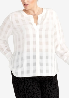 Rachel Rachel Roy Plus Size Checkered Blouse, Created for Macy's
