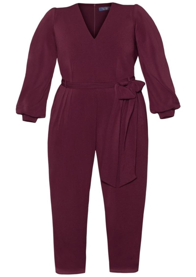 Rachel Rachel Roy Plus Size Lantern-Sleeve Crepe Jumpsuit