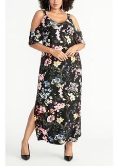 Rachel Rachel Roy Plus Size Off The Shoulder Floral Maxi Dress